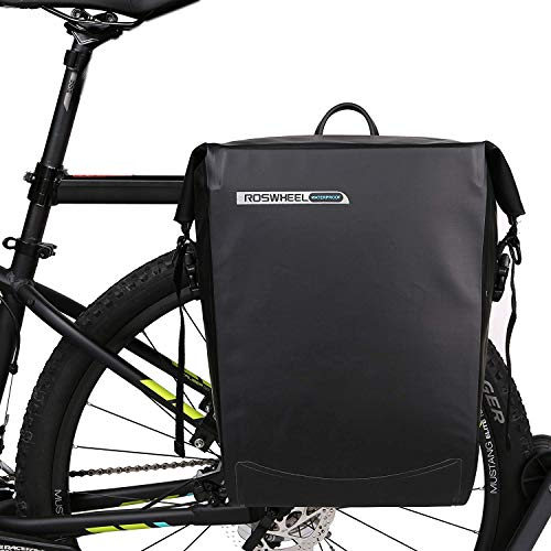 Roswell 141364 Fully Waterproof Bike Panniers 20L Capacity Bicycle Rack Bag
