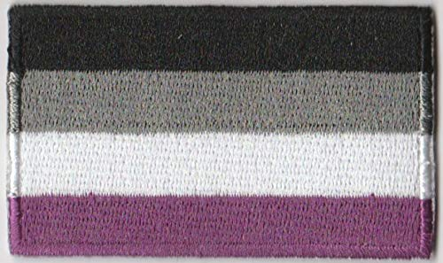 Gay & Lesbian Pride Rainbow LGBT LGBTQ Flag Iron On Patch (Asexual)