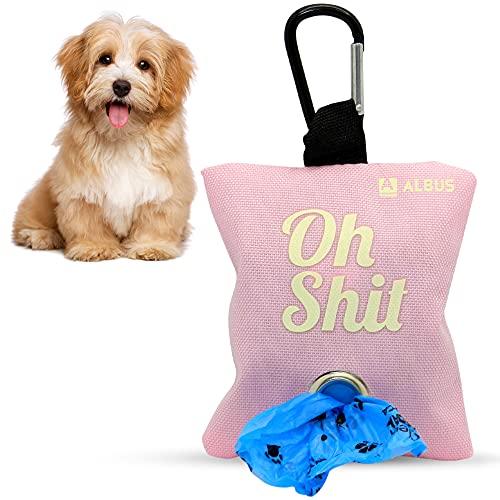 Dispensador de bolsas de caca para perro de tela - porta bolsas...