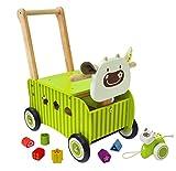 El vaca verde correpasillos de madera para bebes - IM87600