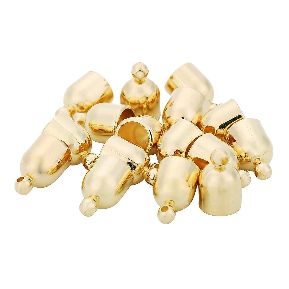 一般化する予約スピンFLAMEER 約100個 DIY装飾 ベル形状 ペンダント魅力 手作り タッセルキャップ ジュエリー製作 2色選ぶ - ゴールド
