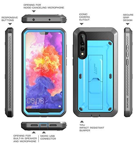 SupCase Huawei P20 Pro Hülle 360 Grad Handyhülle Bumper Case Robust Schutzhülle Cover [Unicorn Beetle Pro] mit Integriertem Displayschutz und Ständer für Huawei P20 Pro 2018 (6.1 Zoll) (Blau)