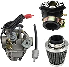 GOOFIT PD24J Carburetor with Air Filter Intake Manifold for GY6 125cc 150cc Go Kart Scooter 152QMI 157QMJ