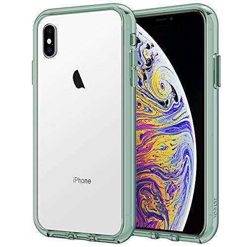 JETech Coque iPhone XS Max 6,5 Pouces, Shock-Absorption, Housse Case Cover Transparente Antichoc, Vert Nuit