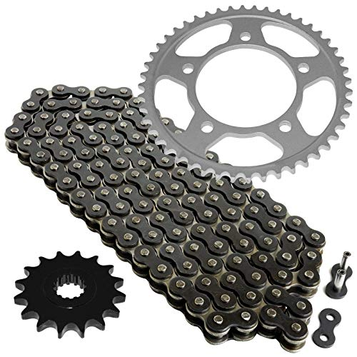 Caltric Black Drive Chain And Sprocket Kit Compatible with Yamaha Yzf-R6 1999-2005 530-Chain Type
