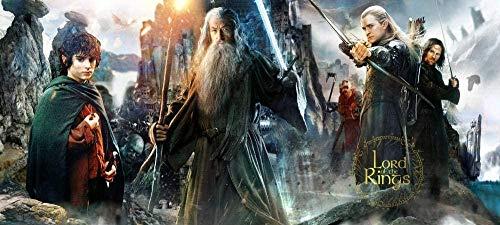 TTbaoz Puzzle Papier Puzzle 1000 Stück Der Herr der Ringe Hobbit Elfen und Gandalf Puzzles Erwachsene Kinder Lernspielzeug Geburtstag
