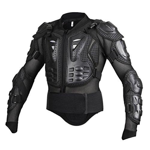 Dexinx Motorrad Radfahren Reiten Full Body Armor Rüstung Protector Professionelle Street Motocross Guard Shirt Jacke mit Rückenschutz Schwarz 2XL