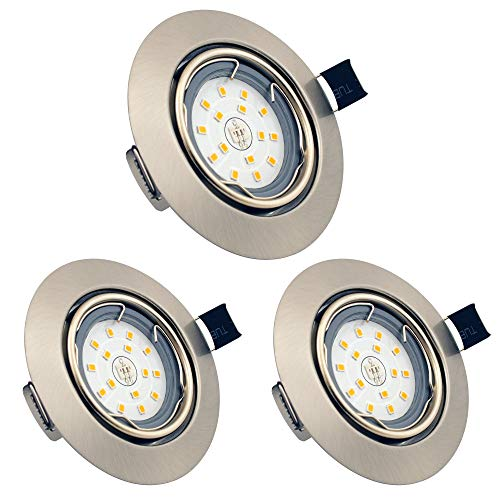 Foco Empotrable LED, GU10 6W Downlight LED Plafón, Blanco Cálido 3000K, Ojos...