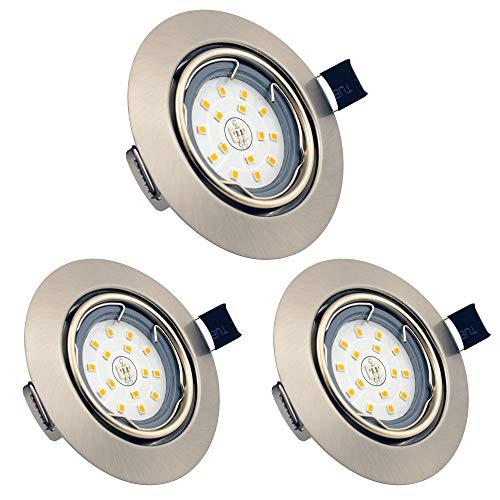Foco Empotrable LED, GU10 6W Downlight LED Plafón, Blanco Cálido 3000K, Ojos de buey de LED Techo...