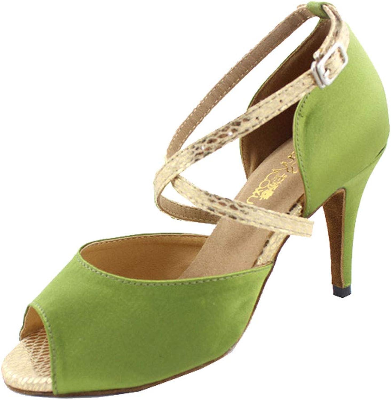 Vimedea Womens Party shoes Latin Salsa Ballroom Social Party Bride Peep Toe 6112