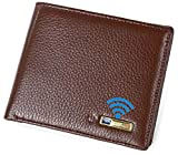 Smart LB Smart Anti-Lost Wallet with Alarm, Bluetooth, Position Record (via Phone GPS), Bifold Cowhide Leather Purse (Brown,Horizontal)