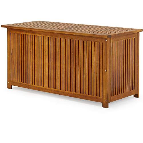 Gartentruhe Auflagenbox mit Innenplane Akazienholz 117cm - 4