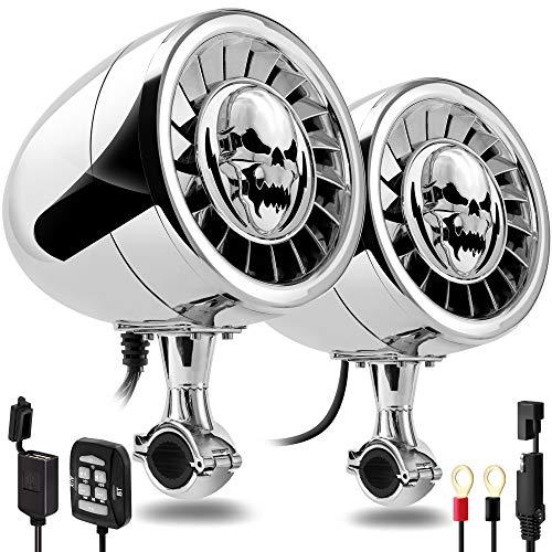 GoHawk AS5-X Gen.3 All-in-One 600W Built-in Amplifier 5' Full Range Waterproof Bluetooth Motorcycle...