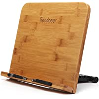 Reodoeer BamBoo Reading Rest Cook Book Document Stand Holder