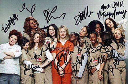 """Signiertes Foto, limitierte Auflage, von den Darstellern der Serie """"Orange is the New Black"""", mit bedruckter Signatur und Zertifikat"""