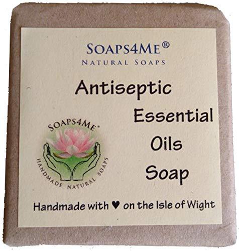 Preisvergleich Produktbild SOAPS4ME antiseptische ätherische Öle natürliche handgemachte Seife / Zitronengras / Teebaum / Eukalyptus / Nelke / Zimt / Oregano