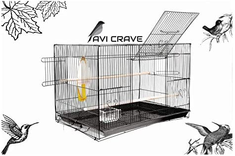 AVI CRAVE Bird cage for Birds,Parrot,Finches,Love Birds, with 2 Perch Stick,Cuttlefish Bone Holder,with Cuttlefish Bo...