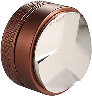 49mmコーヒータンパーコーヒーディストリビューター調節可能なエスプレッソパウダーハンマーブラウンスリーパルプボトム