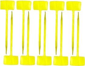 Plant Labels Boomkwekerij Lange T-Type Waterproof Tuinieren Tags Yellow 10PCS Plant label