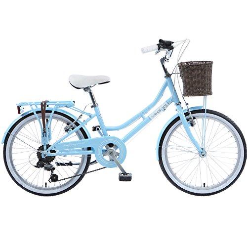 Galano 20 Zoll Belgravia Mädchen Jugendfahrrad ab 6 Jahren Fahrrad Citybike, Farbe:Viking blau