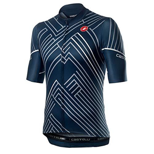 CASTELLI – Passo – Camiseta para Hombre, Hombre, Camiseta, 4520015, Dark Infinity Blue, M