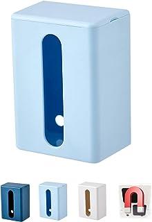 ティッシュケース マグネット 壁掛け ペーパータオルケースピック オカ取り出しやすい ティッシュボックス け おしゃれ キッチン 洗面台 トイレット 浴室 風呂(マグネット-ライトブルー)