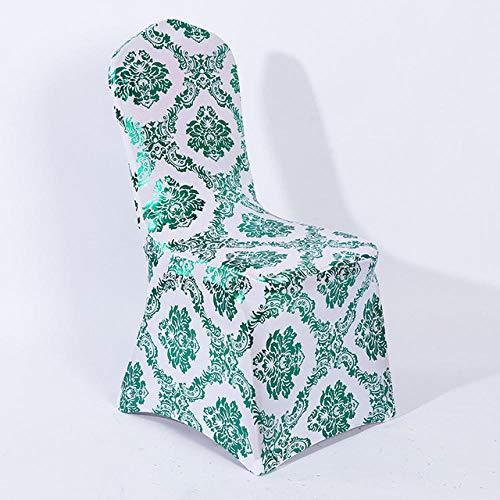 8 kleuren gouden print stoel hoes patroon lycra stoel hoes voor bruiloft decoratie goedkope prijs spandex passen op alle stoelen-E_10 stuks