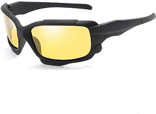 SGJFZD Full Frame Men's Polarized Sunglasses Outdoor UV400 Cycling Glasses Windshield Sunglasses (Color : Yellow)