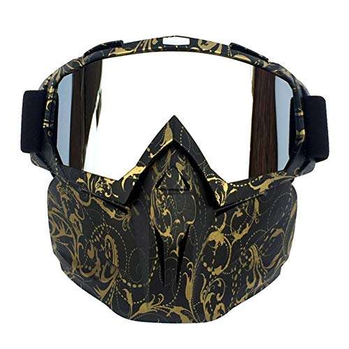 JIEHED Helmet - Outdoor Face Mask, Cold Weather Windproof Anti-Fog Riding Motorbike Helmet Glasses for Riding