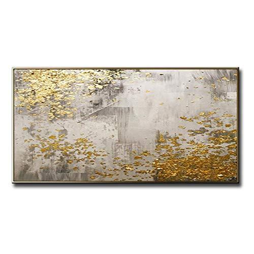STCMW Pintura Abstracta en Lienzo en la Sala de Estar Dormitorio decoración de Interiores Pintura de Pared Arte Pintado a Mano Pintura al óleo-39 * 63inch