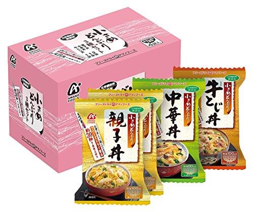 アマノフーズ 小さめどんぶり 4食P(3種入)