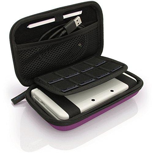 igadgitz U6336 - EVA Hard Case Cover Compatible with Nintendo 3DS XL & 2DS XL 2017 - Purple