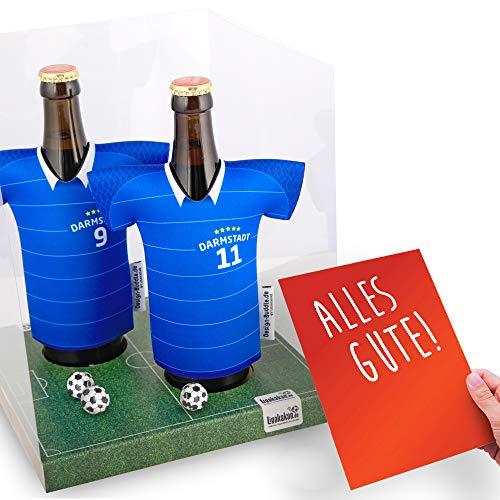 vereins-Trikot-kühler Away für FC Darmstadt 98-Fans   2er Geschenk-Box-Edition  2X Trikots   Fußball Fanartikel Jersey Bierkühler by ligakakao.de