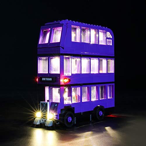 Hima LED-Beleuchtungsset für Lego 75957, das LED-Beleuchtungsset für Mauerwerk Kompatibel mit Harry Potter, dem Ritterbus-Bausatz, ohne Lego-Modell