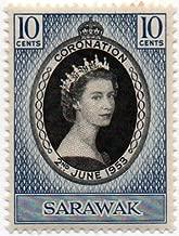 Sarawak Postage Stamp Single 1953 Queen Elizabeth II Coronation Issue 10 Cent Scott #196