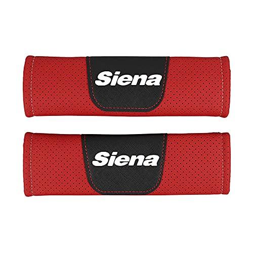 Protector de cojín de hombro para cinturón de seguridad de estilo de coche de cuero Pu,para Fiat Siena,accesorios de estilo de coche, 2 piezas