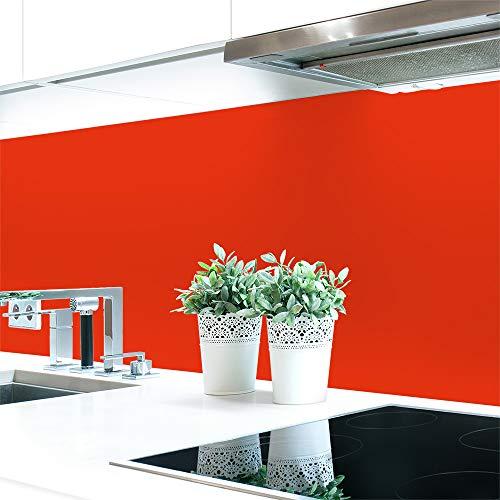 Keuken Achterpaneel Oranje Tones Premium Hard PVC 0.4 mm Zelfklevend Direct op De Tegels 120 x 60 cm Blood Orange
