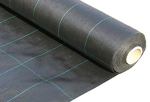 JARDINLIFE Malla Geotextil Antihierbas de 130gr para el Control de la Maleza, Negro (Rollo de 2,10x100 = 210m²)