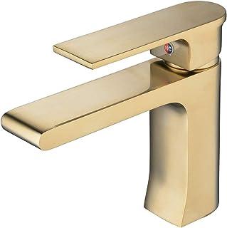 51MeKle6NFL. AC UL320  - Grifos de lavabo dorado