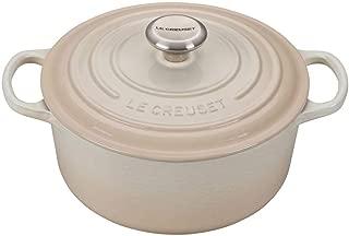 Le Creuset Signature Meringue Enameled Cast Iron 4.5 Quart Round Dutch Oven