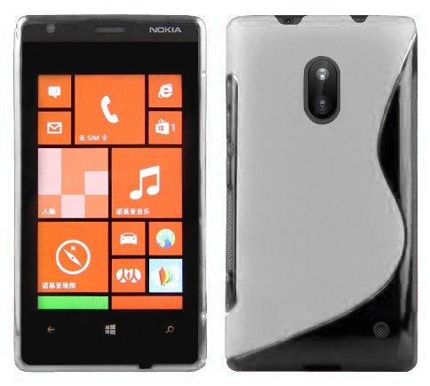 Cadorabo Funda para Nokia Lumia 620 en Semi Transparente - Cubierta Proteccíon...