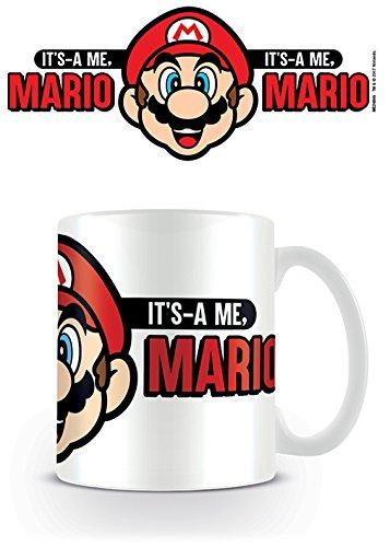 Nintendo Super Its A Me Mario Kaffeetassen, Keramik, Mehrfarbig, 7.9 x 11 x 9.3 cm