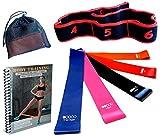 MERX Elastique Sport Fitness Femme Homme, Bande de Resistance Musculation Pack(5+1), Bande Pilates Danse Yoga, Bandes Resistance pour Squat, Muscles Cuisses Fessiers Jambes Bras Dos, [E-Book Offert]