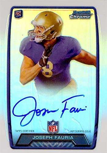 Joseph Fauria autographed Football Card (UCLA Bruins) 2013 Bowman Chrome Rookie #RCRAJFA