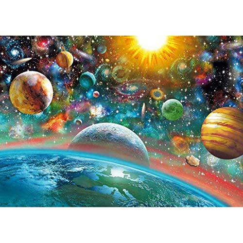 Diamond Painting Kits for Adults Kids,DIY 5D Full Drill Crystal Rhinestone Gem Art Paint, Universe Planet Space HD Canvas Dots Diamond Art Craft kit for New Home Wall Decor 16x12in