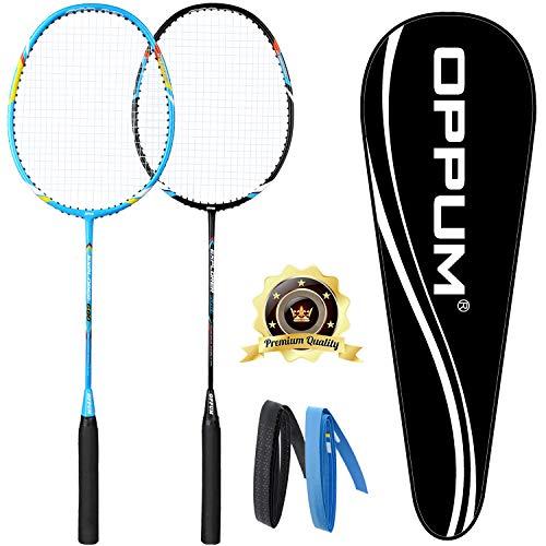 oppum Carbon Fiber Composite 2 Player Badminton Racket Integral Forming Structure Super Lightweight Offensive Badminton Racquet Set )