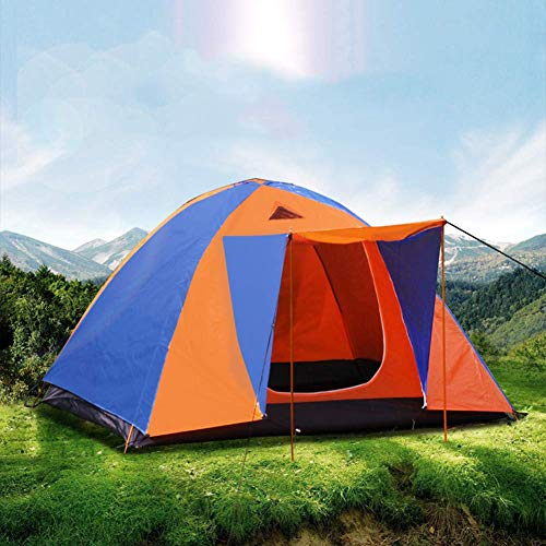 JDK 3-4 Person Large Family Tent, Outdoor Camping Tent Easy Set Up Waterproof Lightweight Backpacking Dome Tent with Porch and Carry Bag, for Hiking Travel Climbing