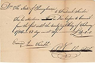 Benjamin Franklin - Manuscript Document Signed 02/28/1786 co-signed by James Trimble