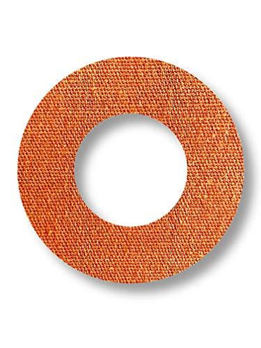 FixTape atmungsaktive Sensor-Tape-Ringe für Freestyle Libre 1 & 2 I runde selbstklebende Patches mit Loch für Glukose-Sensor I hoher Trage-Komfort I hautfreundlich wasserfest I 7 Stück (Beige)