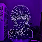 ilusión 3D de ilusión de anime de Haikyuu Keishin Ukai para decoración de habitaciones, luces nocturnas para niños, regalo de cumpleaños, manga, lámpara 3D Keishin, Ukai, Haikyu Party bar Atmosphere